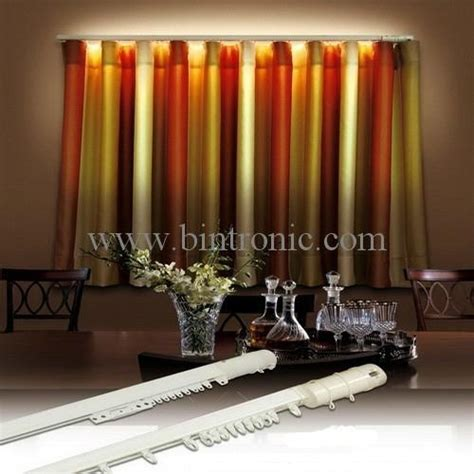 Motorized Curtain Track Suppliers by Bintronic Motorized Curtain Track With Led Bt Lck
