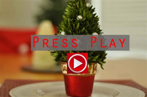 Diy Fresh Mini Christmas Tree Tutorial Youtube