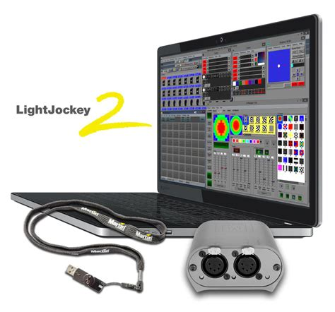 software illuminazione l interfaccia dmx m martin collegamento dmx controllo