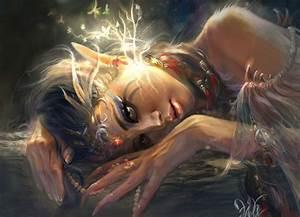 elves, , painting, , art, , glance, , fantasy, , girls, , elf, wallpapers, hd, , , , desktop, and, mobile, backgrounds