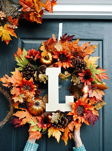 simple fall front door decor ideas fall project