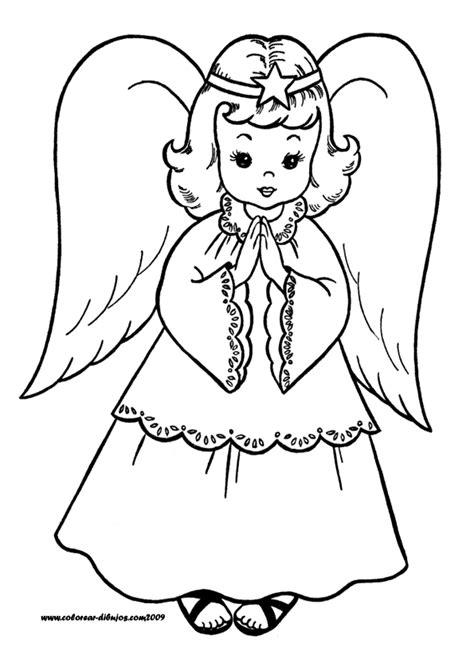 dibujos de angeles  descargar  colorear colorear