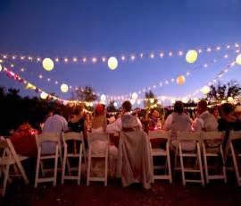 backyard wedding reception ideas unique outdoor wedding lighting sang maestro