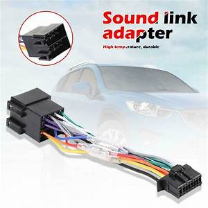 Car Stereo Radio Iso Wiring Harness Connector 16 Pin Pi100