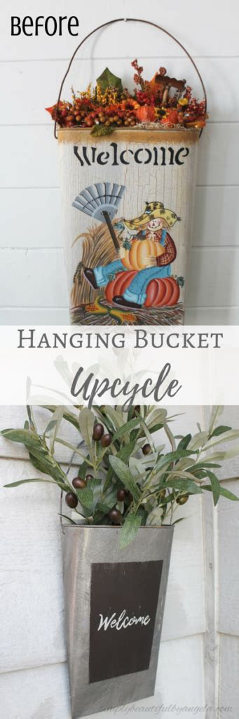 Thrifted Hanging Bucket Upcycle