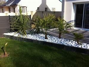 best deco jardin avec galets blancs ideas design trends With amenagement jardin avec galets