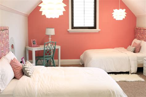 Coral Paint Colors  Contemporary  Girl's Room Benjamin