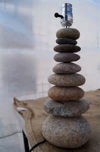 Curious Beach Rock Cairn Lamp