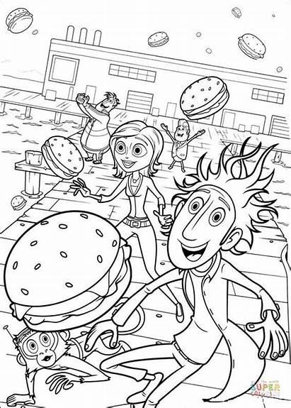 Coloring Pages Lots Hamburgers Printable