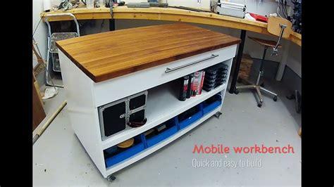 mobile workbench diy youtube
