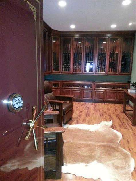 Diy Hidden Gun Cabinet Plans by Gun Room Traditional Basement St Louis By K Build