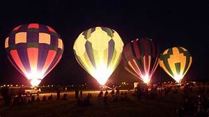 Hot Air Balloons look cool at night.....   A look through ...