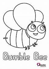 Bee Bumble Coloring Bubakids Printable Bumblebee sketch template