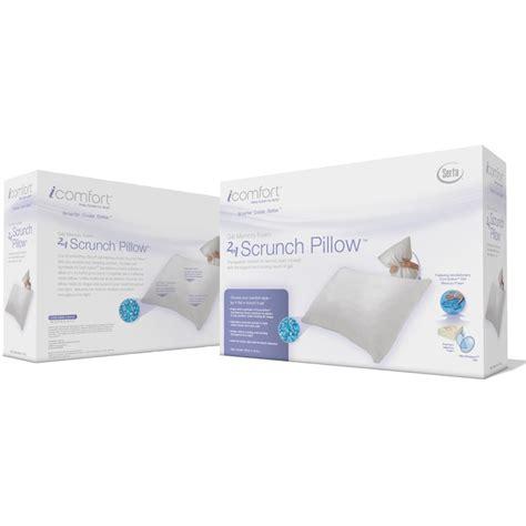 serta cool gel memory foam pillow serta icomfort scrunch pillow with cool gel memory