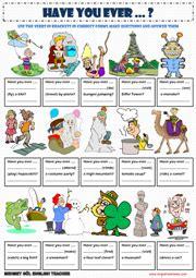 present perfect tense esl printable worksheets  exercises