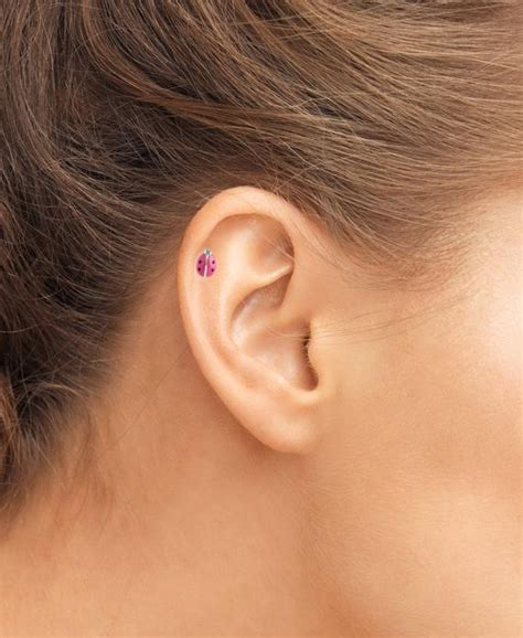 surgical steel ear cartilage helix tragus stud earring