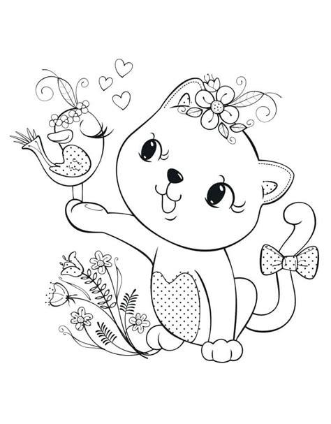gambar kucing untuk diwarnai bisa diprint fanicat