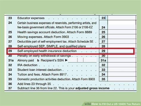 fill     tax return  form wikihow