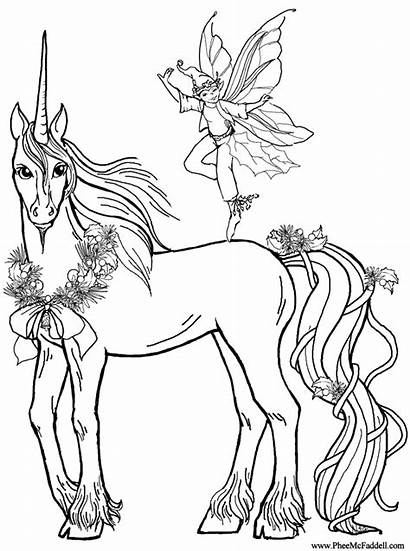 Unicorn Coloring Realistic Pages Animal