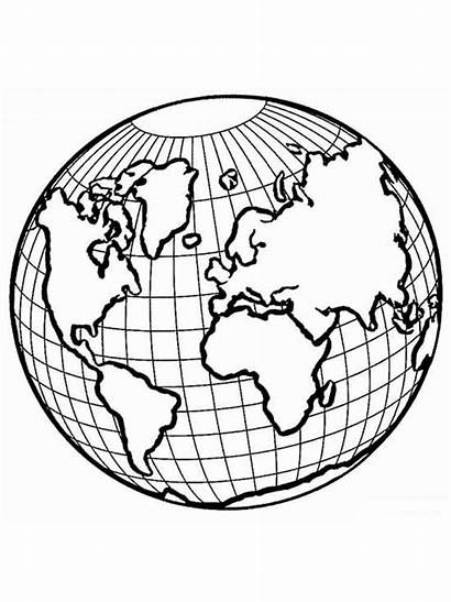 Coloring Earth Pages Equator Educational Printable Recommended