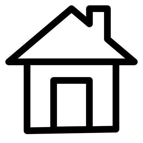 home icon black and white home icon images clipart best