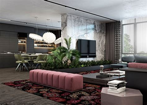 luxury apartment design  unique atmosphere interiorzine