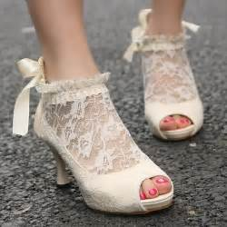 discount wedding shoes vintage ivory lace wedding pumps cheap wedding shoes 1442470 weddbook