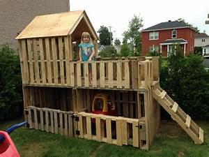 Fabriquer Un Toboggan : garage double voiturettes et maisonnette pour enfants ~ Mglfilm.com Idées de Décoration