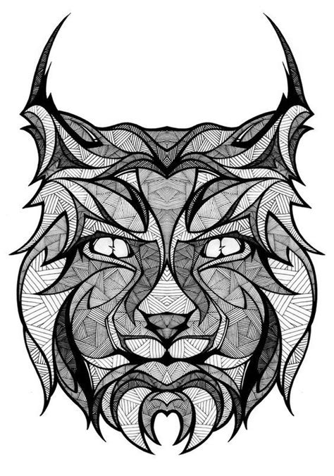 Pin by mangai.rollin on totems | Drawings, Lynx, Animal coloring pages