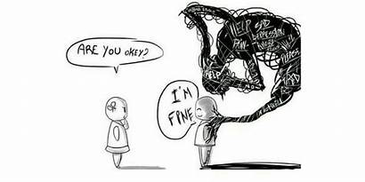 Depression Demons Stigma Mental Health Head Drawing