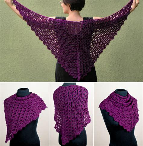 Free Crochet Triangle Shawl Patterns Beginners