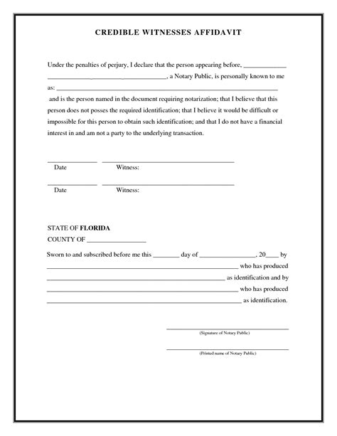 witness affidavit form best photos of witness form template witness statement