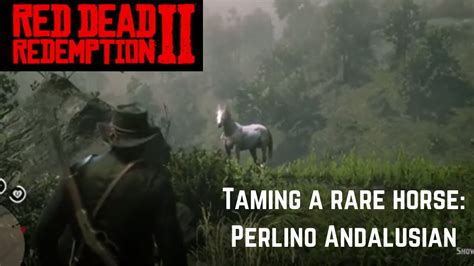 rdr2 andalusian perlino horse wild