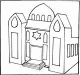 Synagogue Coloring Pages Clipart Jewish Temple Drawing Buildings Print Library Colouring Clip Jesus Pre Luke Printable sketch template