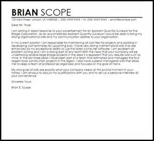 Cover Letter Example For Quantity Surveyor Phd Application ...