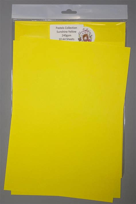 Browse yellow card stock on sale, by desired features, or by customer ratings. Pastel collection Sunshine yellow card stock - Abracraftabra