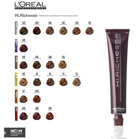 loreal colors l or 233 al professionnel hi richesse color chart color