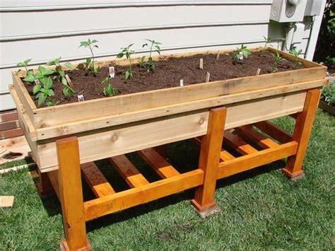above ground garden box waist high planter box gardens planters and decks