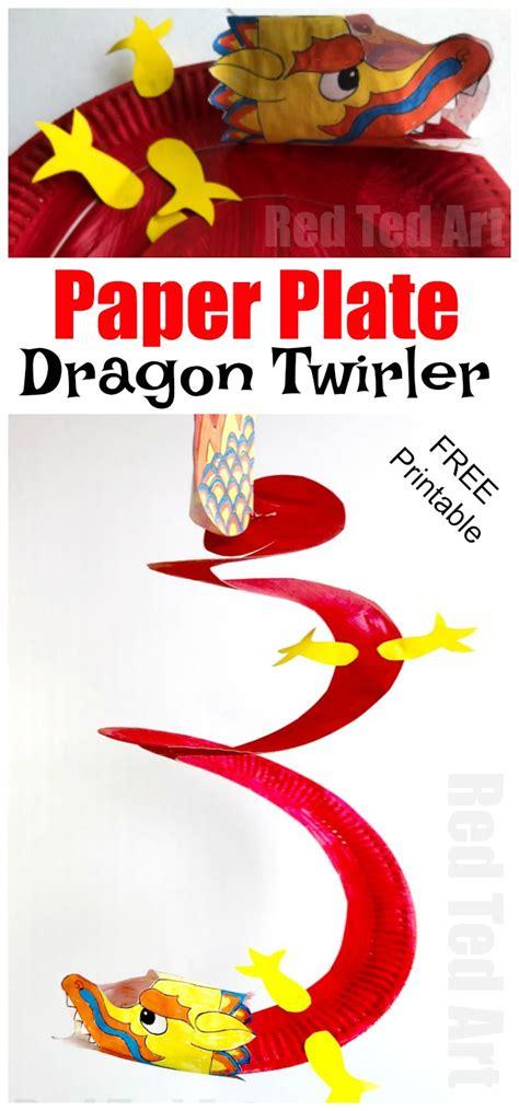 paper plate twirler ted 480 | Paper Dragon twirler