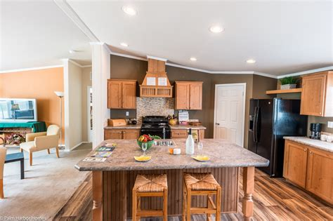 Mobile Kitchen Island With Seating - view the canyon bay i floor plan for a 2108 sq ft palm harbor manufactured home in conroe texas