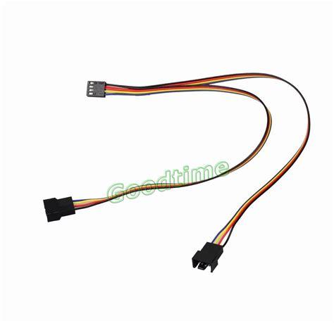 3 pin fan connector to 4 pin aliexpress com buy 5pcs 4 pin to 2x 4pin 3pin pwm