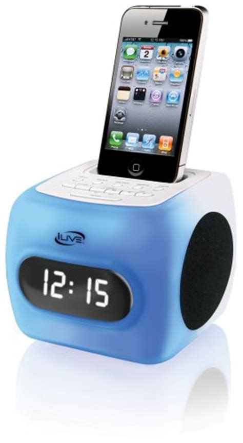 ilive cabinet radio change time ilive icp360 color changing clock radio with dock for