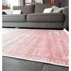 Tapis Boheme Chic : tapis vintage color rose poudre boh me chic itao ~ Teatrodelosmanantiales.com Idées de Décoration