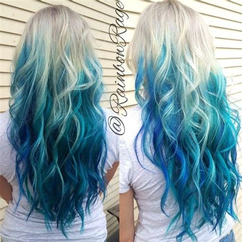Blue And Hairstyles by 27 Trendy Blue Ombre Hairstyles 2019 Ombre Hair Color