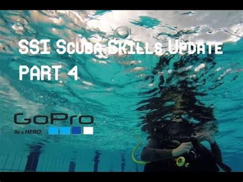 ssi scuba skills update scuba dive filmed  gopro