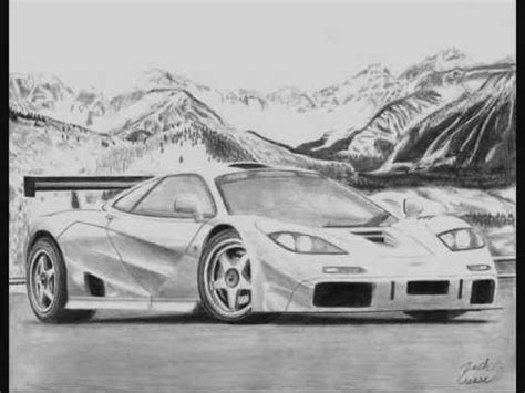 mclaren f1 drawing mclaren f1 lm pencil drawing youtube