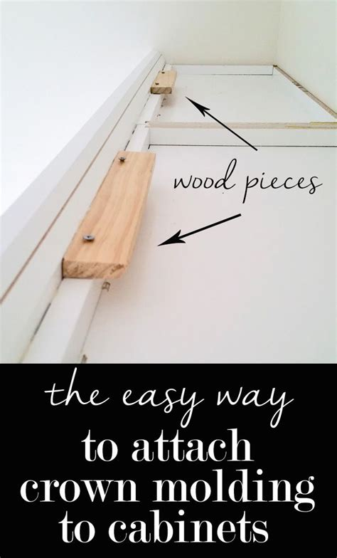 easy way to hang cabinets the easy way to attach crown molding to wall cabinets that