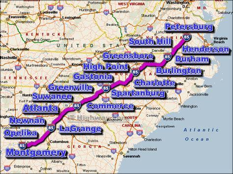 I 85 Road Maps Traffic News