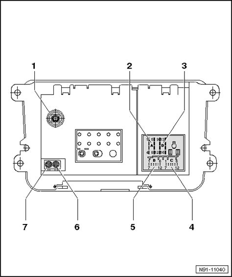 Volkswagen Rcd Pin Assignments