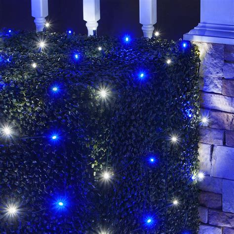 led net lights mm    blue cool white led net